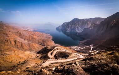 Landschaft in der Region Khasab, Oman