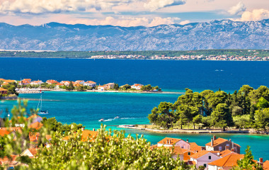 Zadar-islands-archipelago-and-Velebit-mountain-view-Preko-Dalmatia-Croatia
