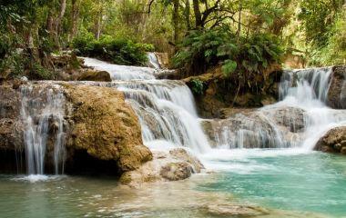 Waterfalls near Luang Prabang, Laos, Asia