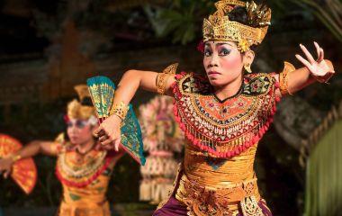 Traditioneller Tanz in Ubud, Bali, Indonesien
