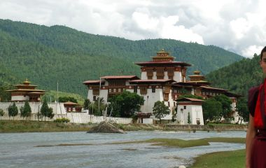 Enchanting Travels Bhutan Tour Punakha Dzong & monk