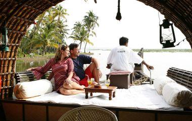 Hausboot Aussicht in Kerala, Indien