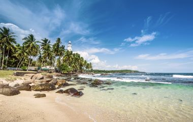 Wild beautiful beaches of Sri Lanka