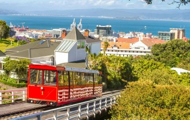 Enchanting Travels New Zealand Tours wellington cable car, new zealand