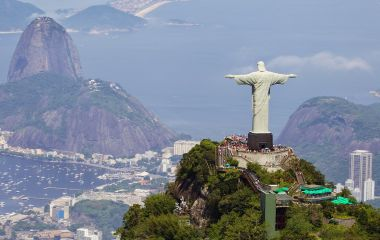 Enchanting Travels Brazil Tours Aerial view of Christ Redeemer and Corcovado Mountain