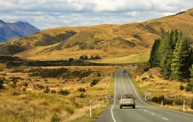 A Road South of Te Anau, New Zealand South Island