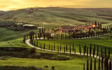 Enchanting Travels Italy Tours Tuscany, Crete Senesi rural sunset landscape