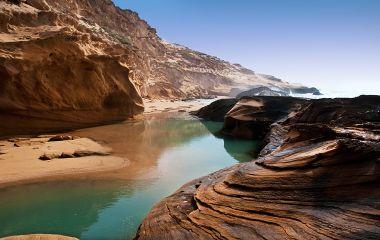 The coast of the Atlantic Ocean in Morocco