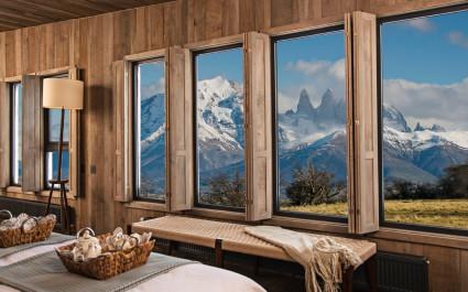 Ausblick des Hotel Awasi-Patagonia, Chile