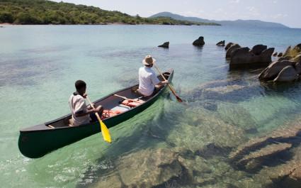Kajakfahrt im Malawisee