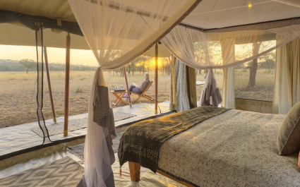 Gästezelt im Ubuntu Camp N Hotel im nördlichen Serengeti, Tansania