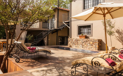 Verandah at Olive Grove Guesthouse, Windhoek in Namibia