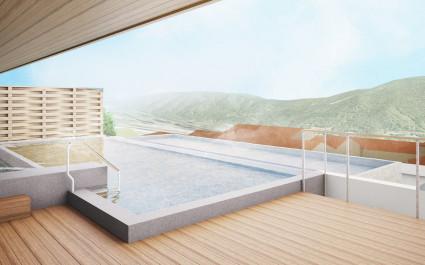 Pool at hotel Hakone Kowakien Tenyu ,Hakone, Japan