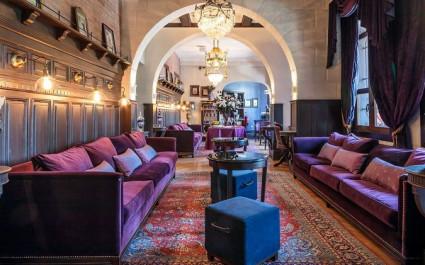 Außenansicht von dem Hotel Castillo Rojo in Chile