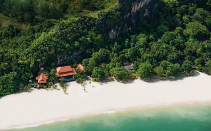 Vogelperspektive des Hotels Four Seasons, Langkawi