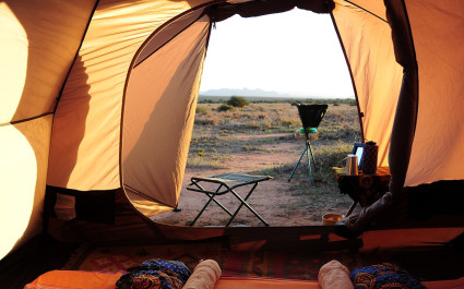 Adventure camping in the wilderness at Laikipia