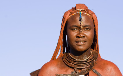 Portrait of a native Himba woman, Namibia