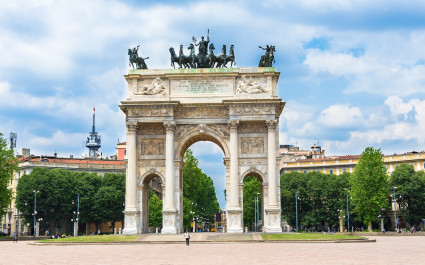 Arch of Peace (Arco della Pace) in Milan. Italy