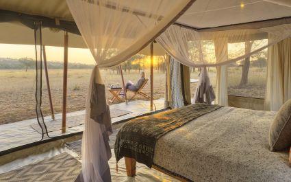 Guest tent at Ubuntu Camp N Hotel in Serengeti (Northern), Tanzania