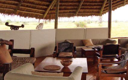 Lounge area at Maramboi Tented Camp,Tarangire