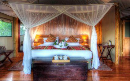 Room at Kanana Camp in Okavango Delta, Botswana