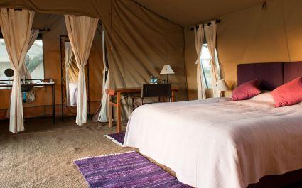 Zimmer im Mara Under Canvas Hotel in Nördliche Serengeti, Tansania