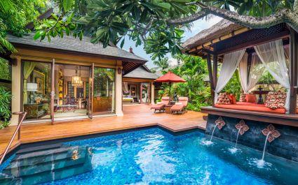 Pool at St. Regis Bali Resort Hotel in Nusa Dua, Indonesia