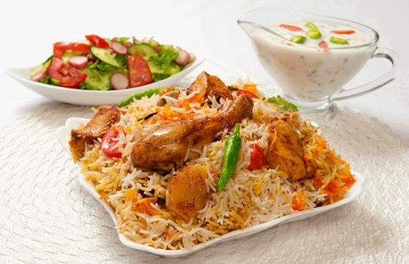 Chicken biriyani in India with Enchanting Travels