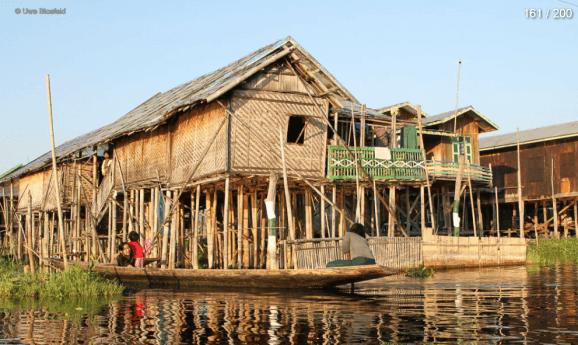 Myanmar Reisebericht - Stelzenhäuser Inle See