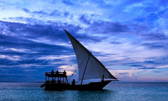 Segelboot in Tansania
