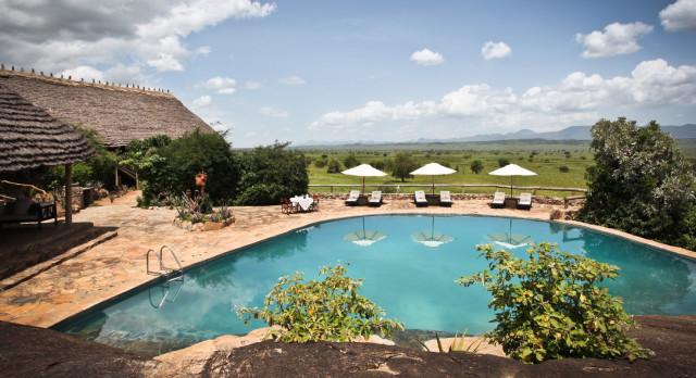 Pool at Apoka Lodge in Kidepo Valley, Uganda