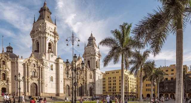 Old town of Lima, capital of Peru, South America