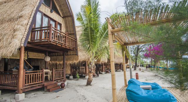 Aussicht von Hotel Karma Reef, Gili Meno, Indonesien
