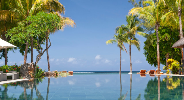 Pool at Hilton Mauritius Resort and Spa in Mauritius, Africa