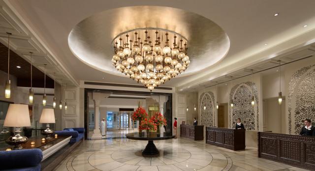 The Lobby, ITC Mughal Hotel Entrance, Agra, India, Asia