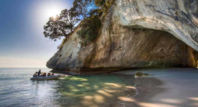 Enchanting Travels New Zealand Tours Cathedral-Cove-Coromandel-Legend-Photography
