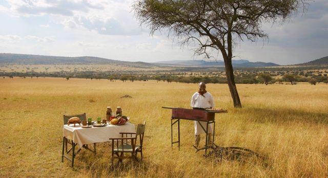 Bush breakfast at Dunia Camp C Serengeti (Central) Tanzania