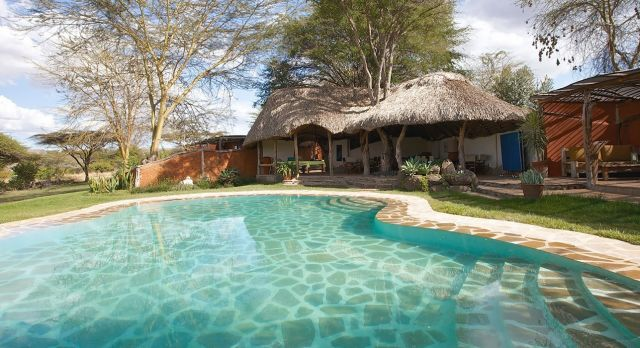 Swimmingpool von lakipia lewa safari in lakipia kenia