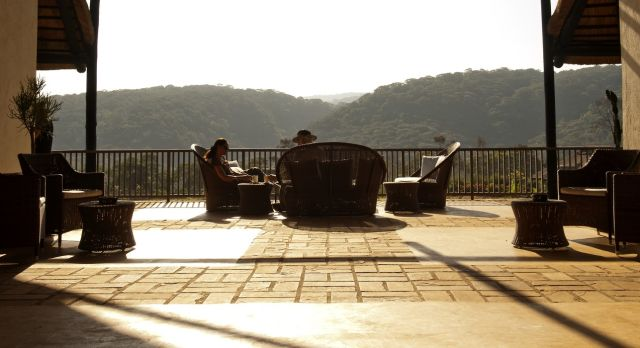 Centrol patio at Kitela Lodge, in Lake Manyara & Ngorongoro, Tanzania
