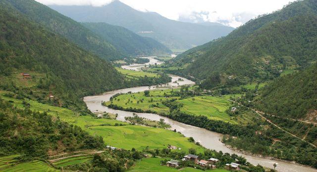Ausblick im Punakha Tal