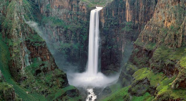 Lesotho Sehenswürdigkeiten: Die Maletsunyane Wasserfälle