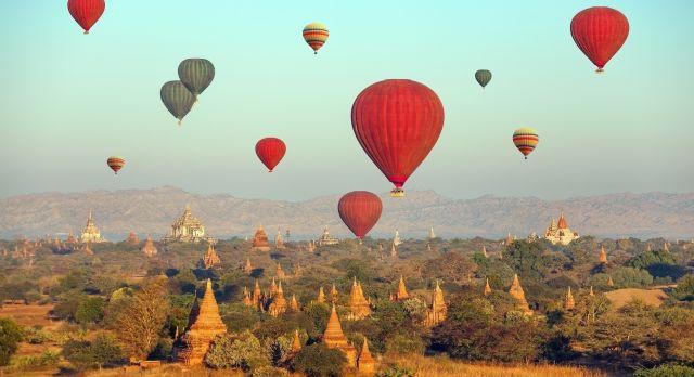 Ballonfahrt in Bagan
