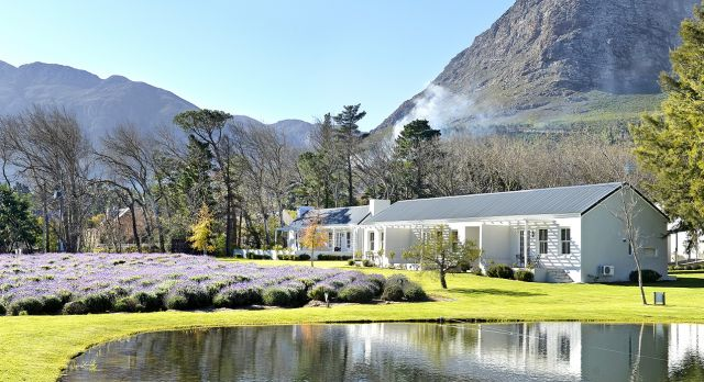 Outside view of Lavender Farm Guest House in the Winelands, South Africa - Perfect for winter travel