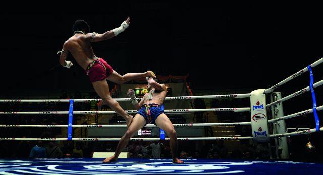 Kämpfer beim Thaiboxen
