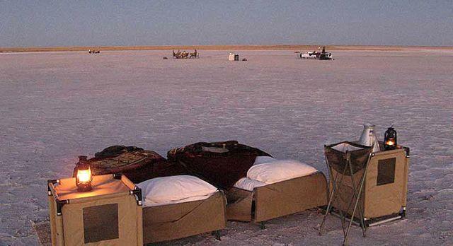 Star bed at Meno A Kwena - luxury African safari