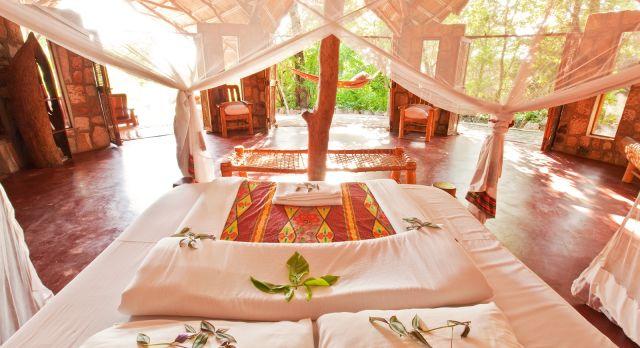 Inside Nkwichi at Lake Malawi