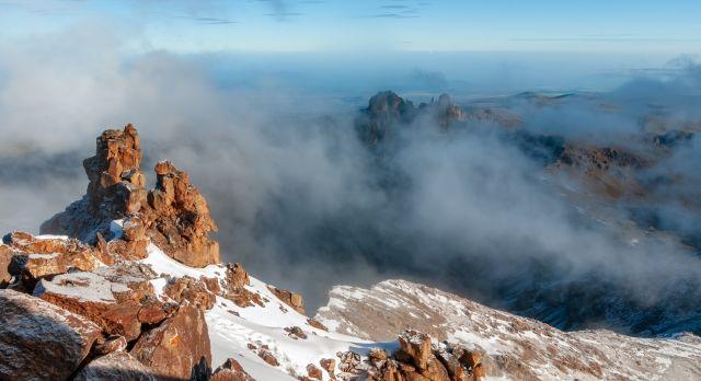 Landscape at the top of Mount Kenya