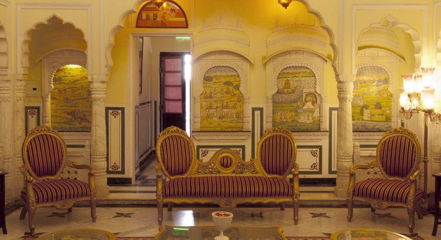 Lounge im Hotel Shahpura House Jaipur, Nordindien