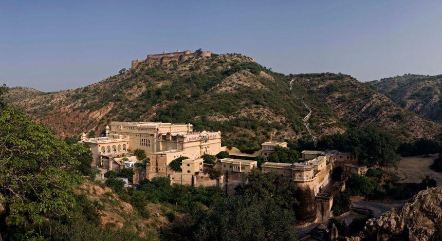 Enchanting Travels - Indien Reisen- Samode Village-Samode Palace - Ansicht von oben