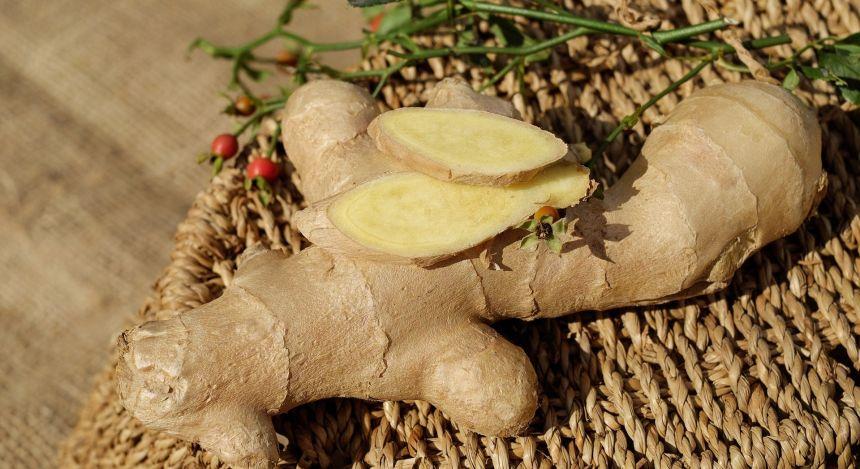 Ingwer, Zutat für einen tyüischen Ingwer-Salat in Myanmar